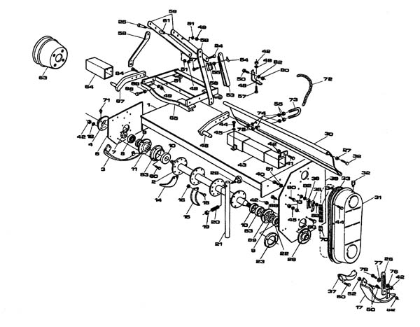 rotary tiller parts diagram